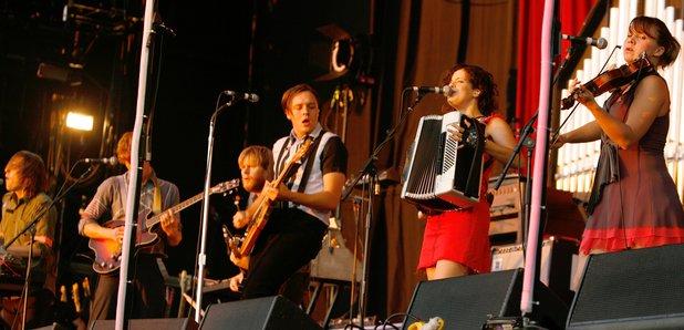 Aracade Fire Performing in 2007