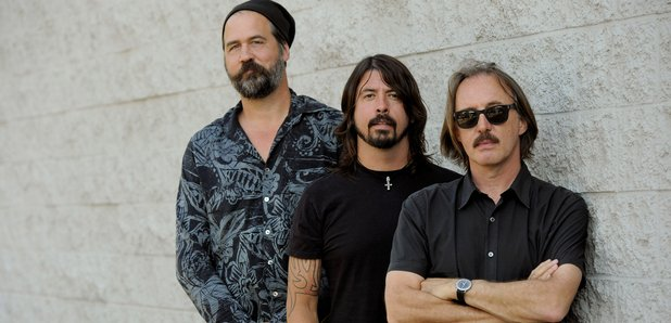 Novoselic, Grohl and producer Butch Vig