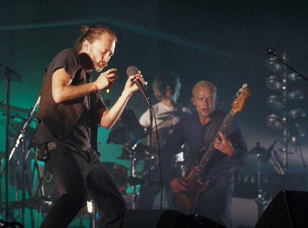 Flea and Thom Yorke