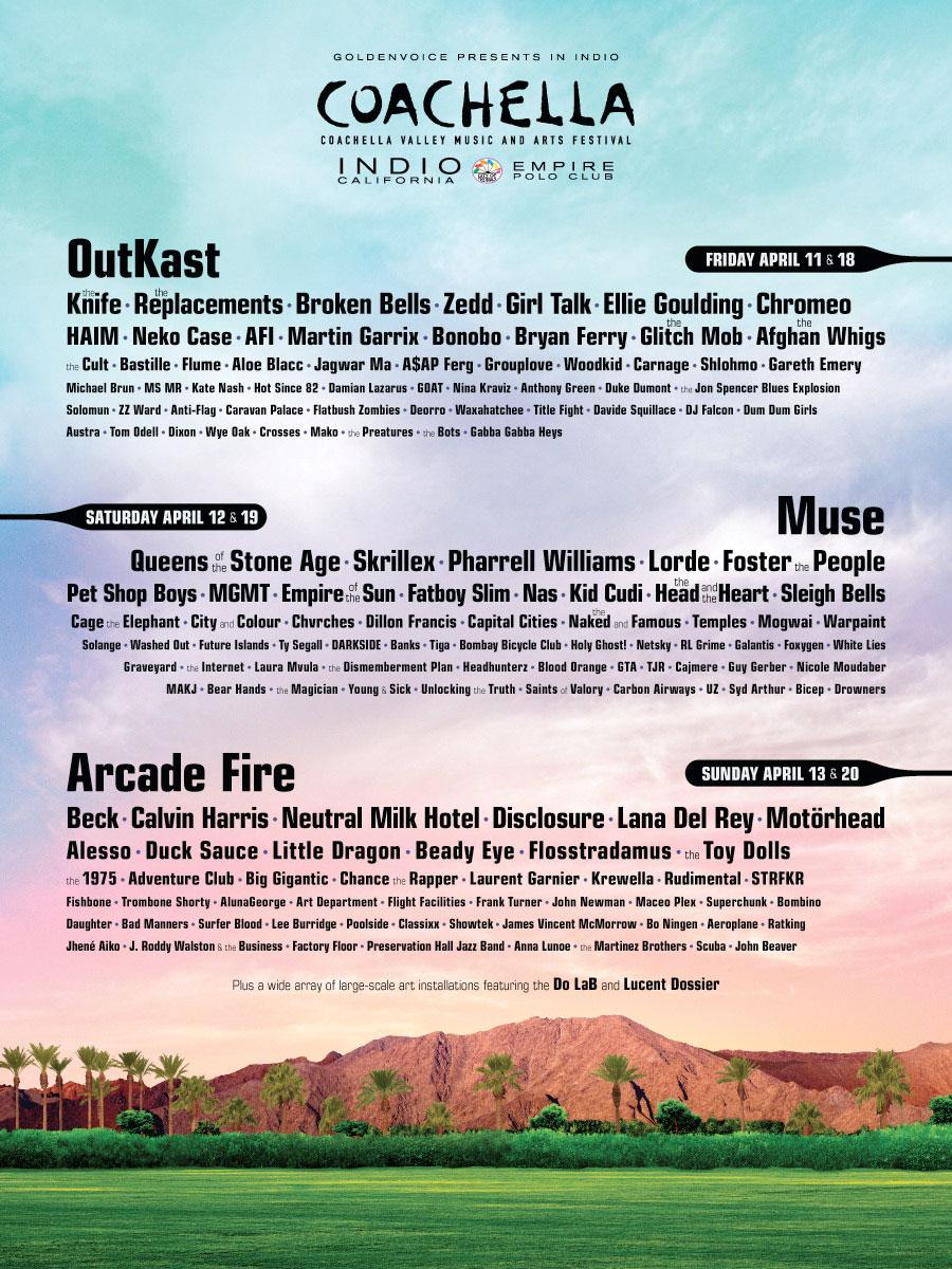 Coachella Line Up 2014