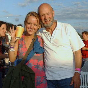 Emily Eavis and Michael Eavis