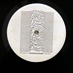 Joy Division Unknown Pleasures label