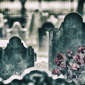 Gravestones stock image