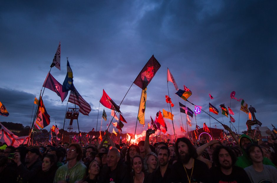 Glastonbury Moments - Flags