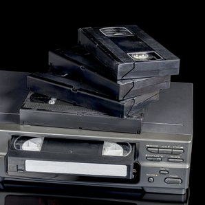 Video Tape VHS and VCR stock image