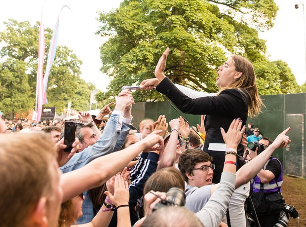 The Hives get in amongst the Kendal Calling Crowd
