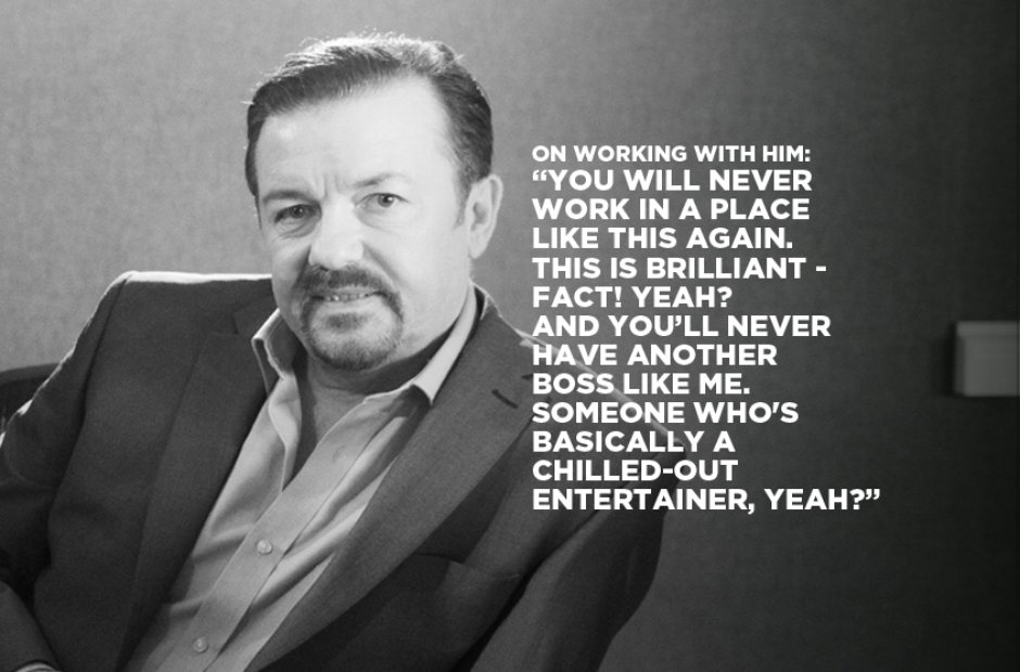 David Brent On Working With Him