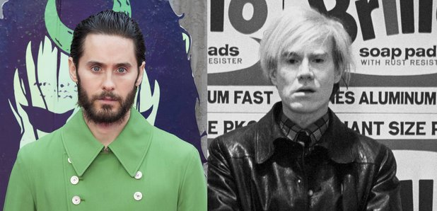 Jared Leto and Andy Warhol split screen image