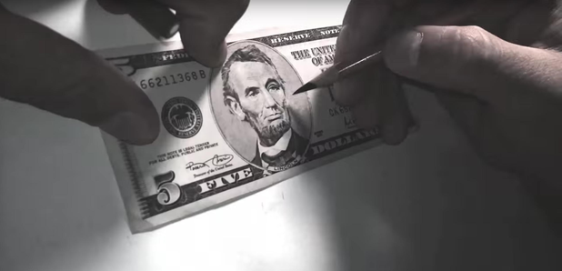 Bill Murray on 5 dollar bill YouTube still