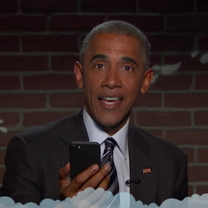 Barack Obama reads mean tweets