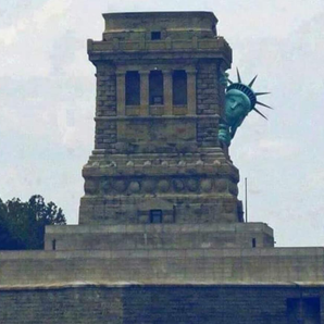 Picture Of Statue of Liberty Hiding Behind Plinth