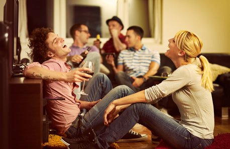 House party stock image