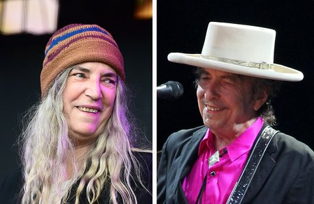 Patti Smith Bob Dylan split screen