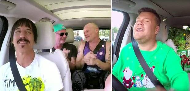Red Hot Chili Peppers James Corden rectangle