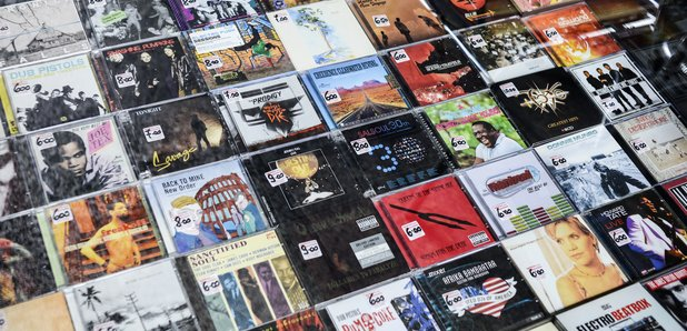 rock CDs stock image