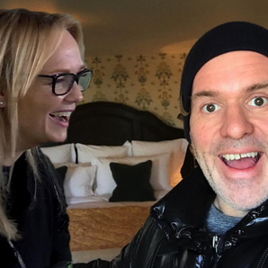 Emma Bunton Chris Moyles bed video still