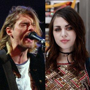 Frances Bean Cobain and Father Kurt Cobain