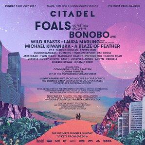 Citadel Festival 2017 line-up poster