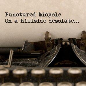 Smiths lyrics on typewriter