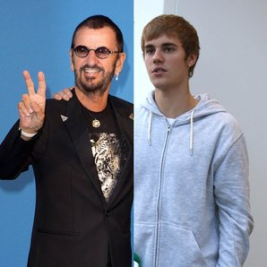Ringo Starr and Justin Bieber