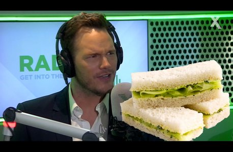 Chris Pratt talks fingering sandwiches on the Chri
