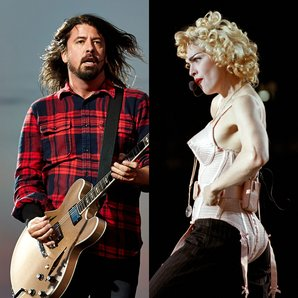Foo Fighters Dave Grohl and Madonna