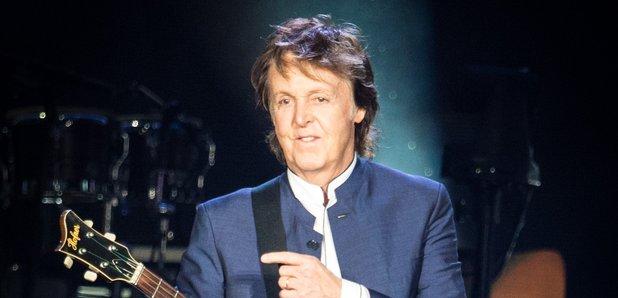 Paul McCartney performing in 2016