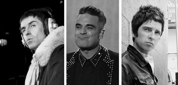 Liam Gallagher Robbie Williams Noel Gallagher