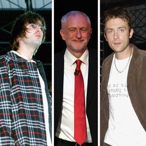 Liam Gallagher Jeremy Corbyn Damon Albarn