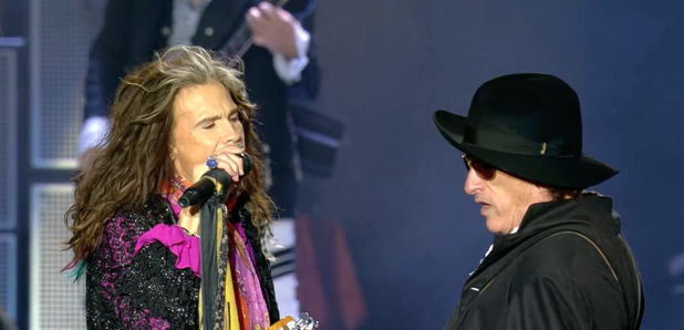 Steve Tyler and Joe Perry from Aerosmith at Downlo