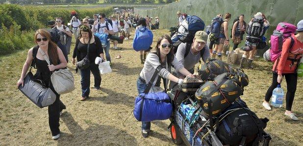 Glastonbury arrivals 2010