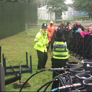 Police dance at Camp Bestival festival
